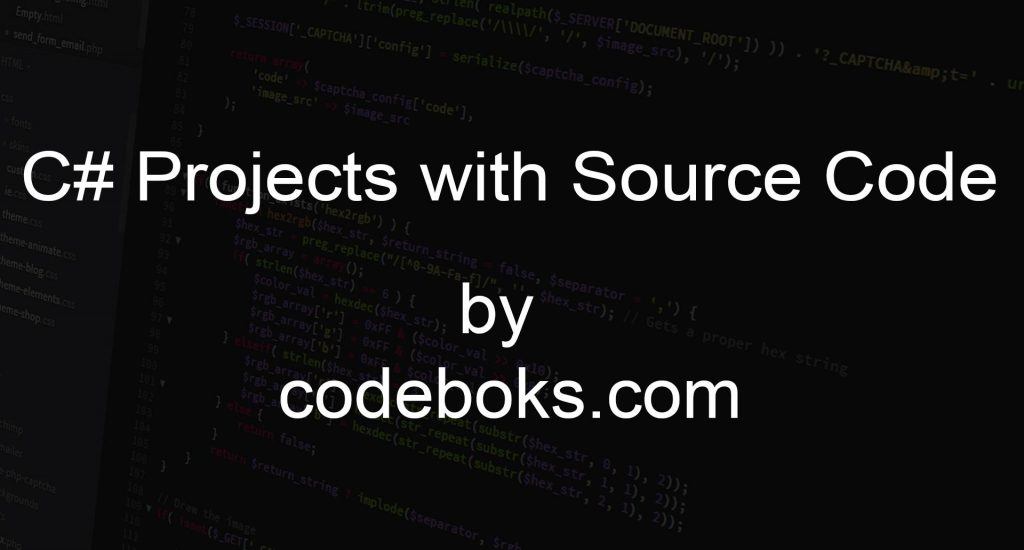 C# Projects with Source Code