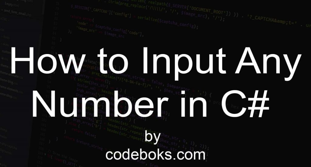 How to Input any Number in C#
