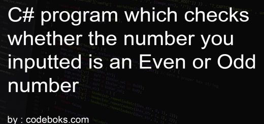 C# program which checks whether the number you inputted is an Even or Odd number