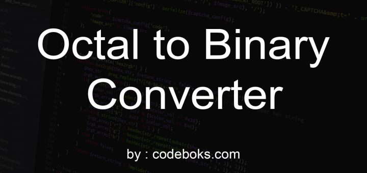 Octal to Binary Converter