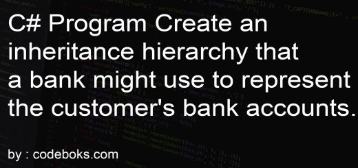 C# Program Create an inheritance hierarchy that a bank might use to represent the customer's bank accounts.