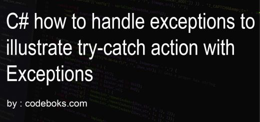 C# how to handle exceptions to illustrate try-catch action with Exceptions