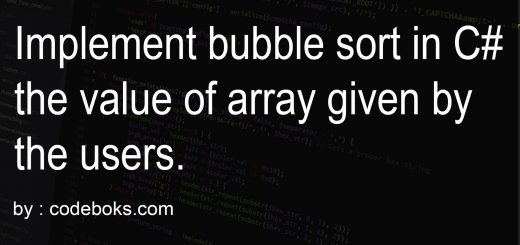 Implement bubble sort in C# the value of array given by the users.