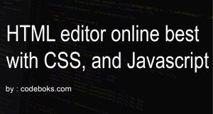 Online HTML editor free