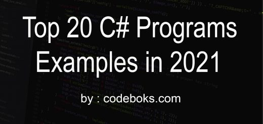 Top 20 C# programs examples in 2021