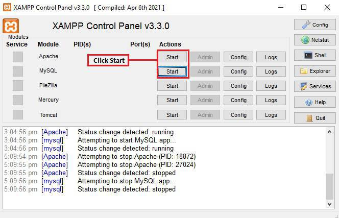 How to download and install Xampp on windows step by step